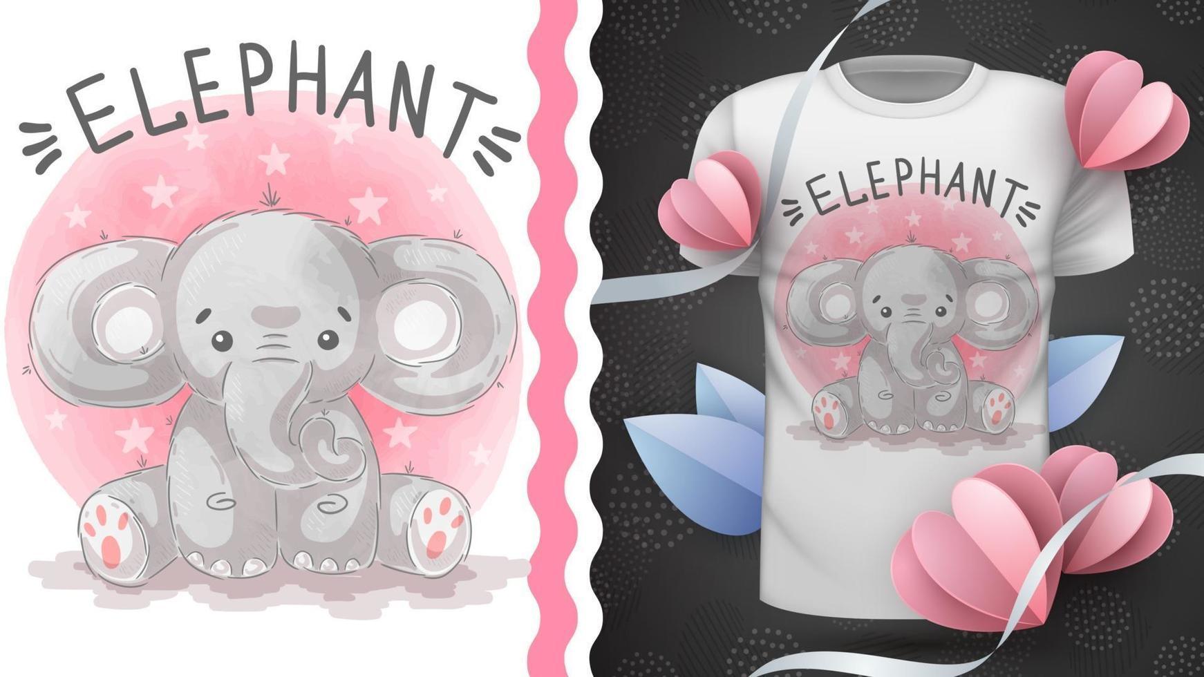 animal de pelúcia elefante personagem de desenho animado vetor