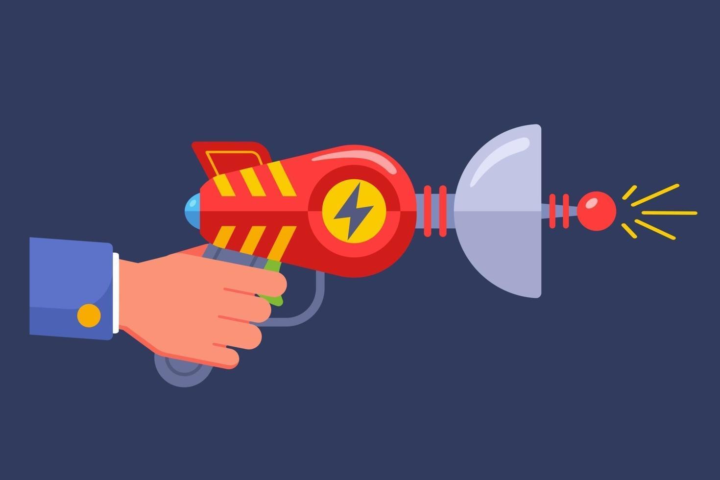 pistola alienígena de ficção científica. ilustração vetorial plana. vetor