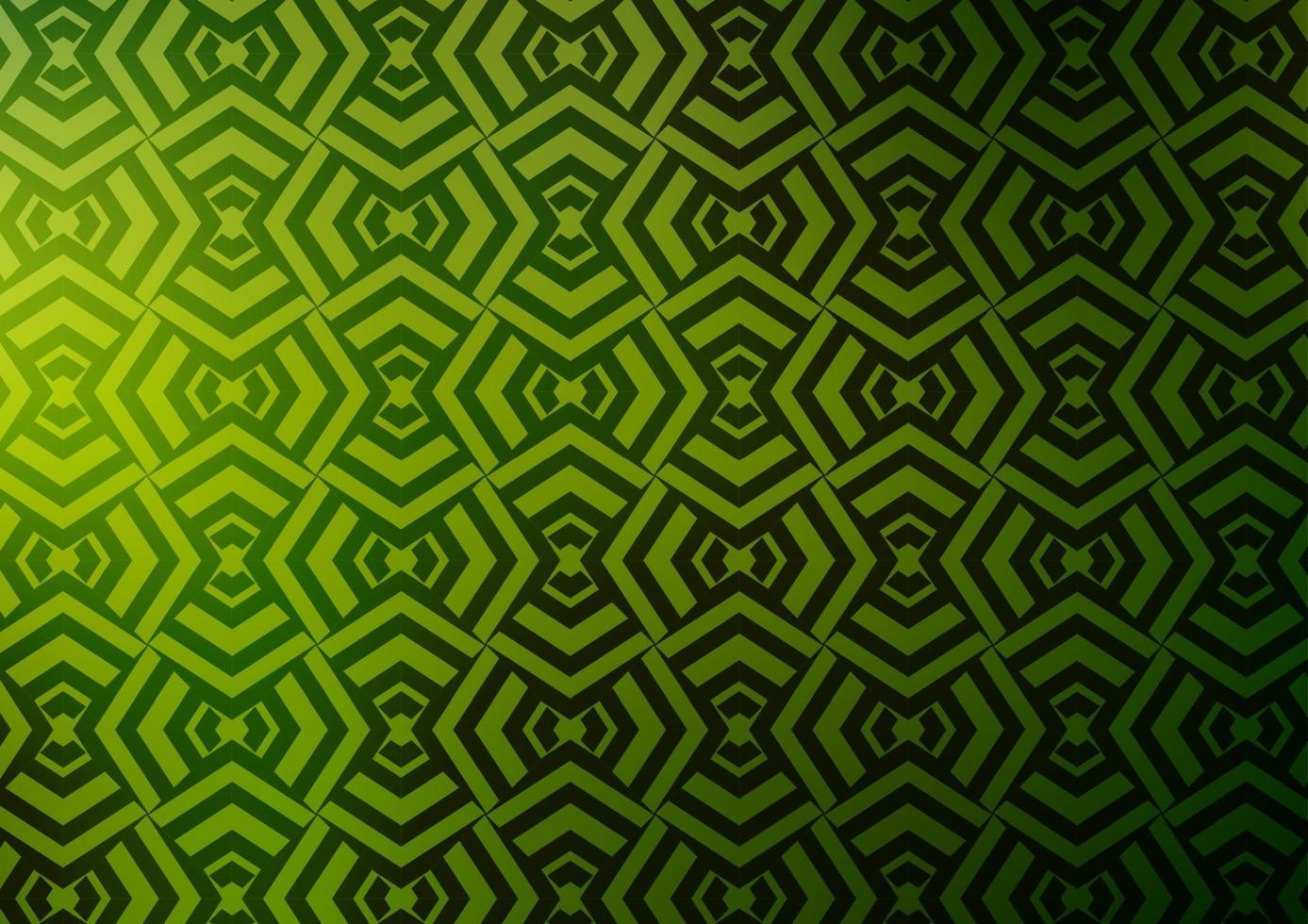 padrão de vetor verde e amarelo claro com linhas estreitas.