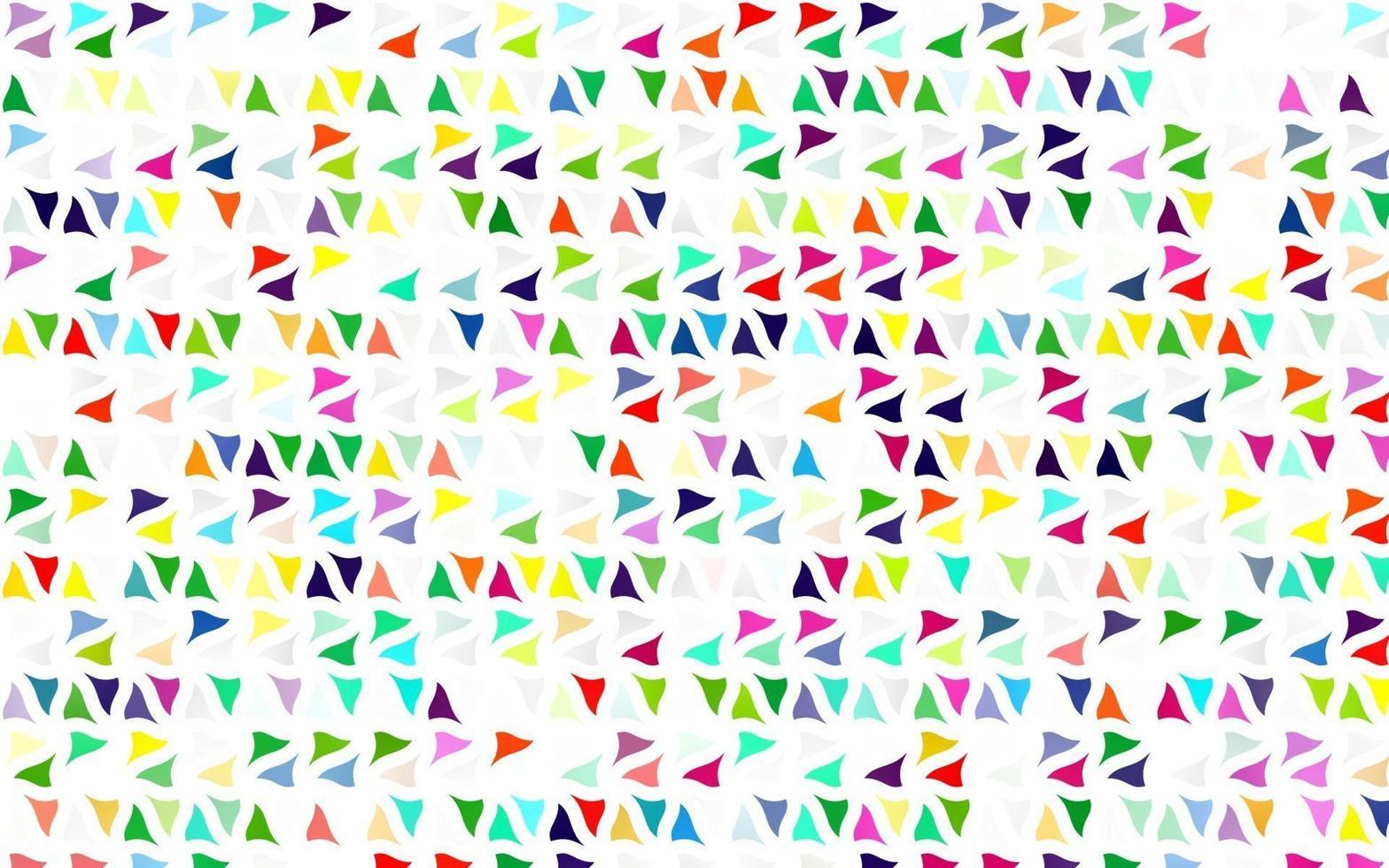 luz multicolorida, capa de vetor de arco-íris em estilo poligonal.