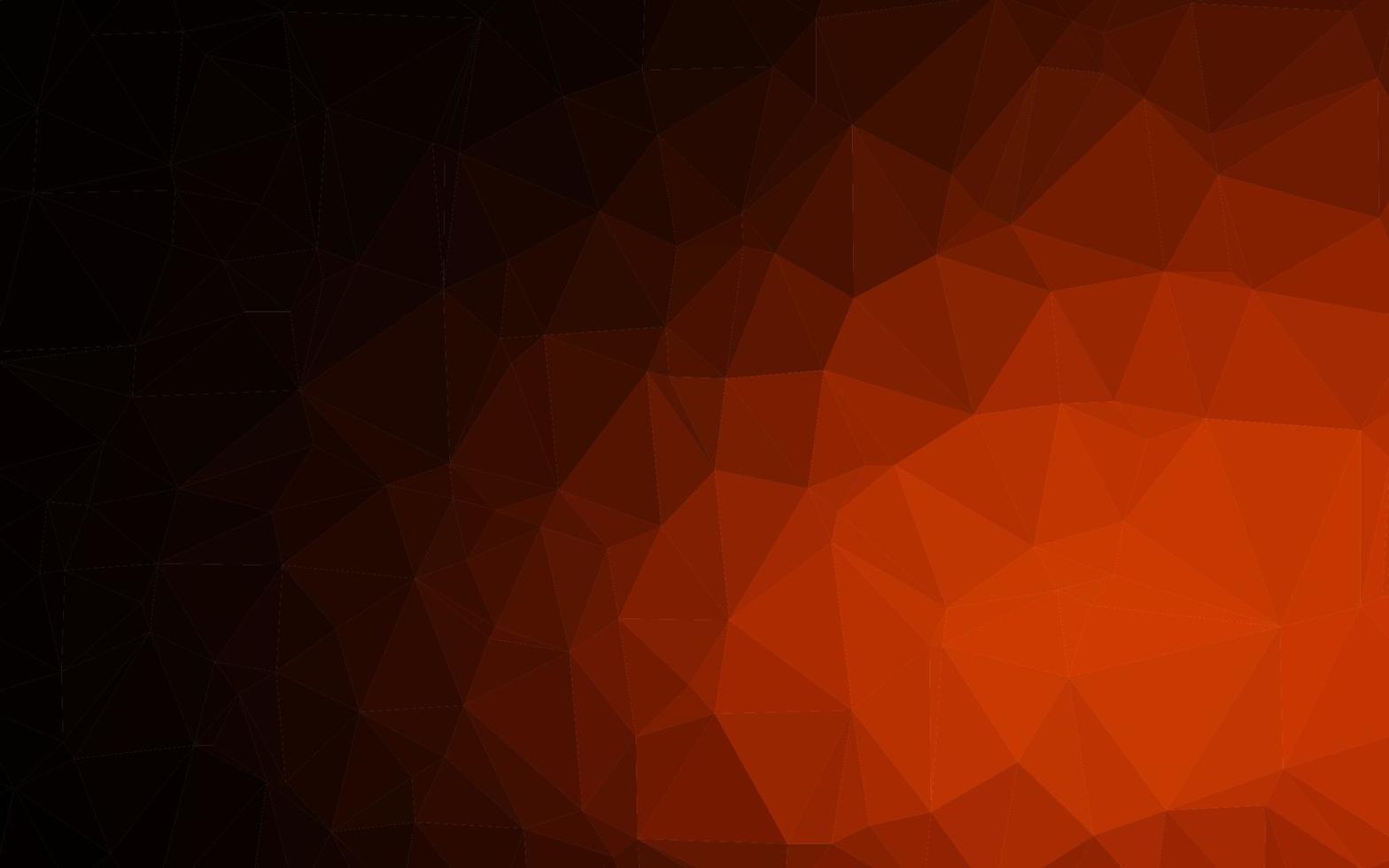 cenário de mosaico abstrato de vetor laranja escuro.