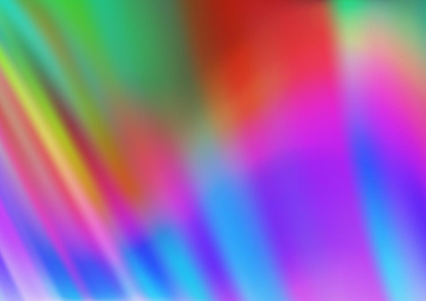 luz multicolorida, modelo de vetor de arco-íris com linhas dobradas.