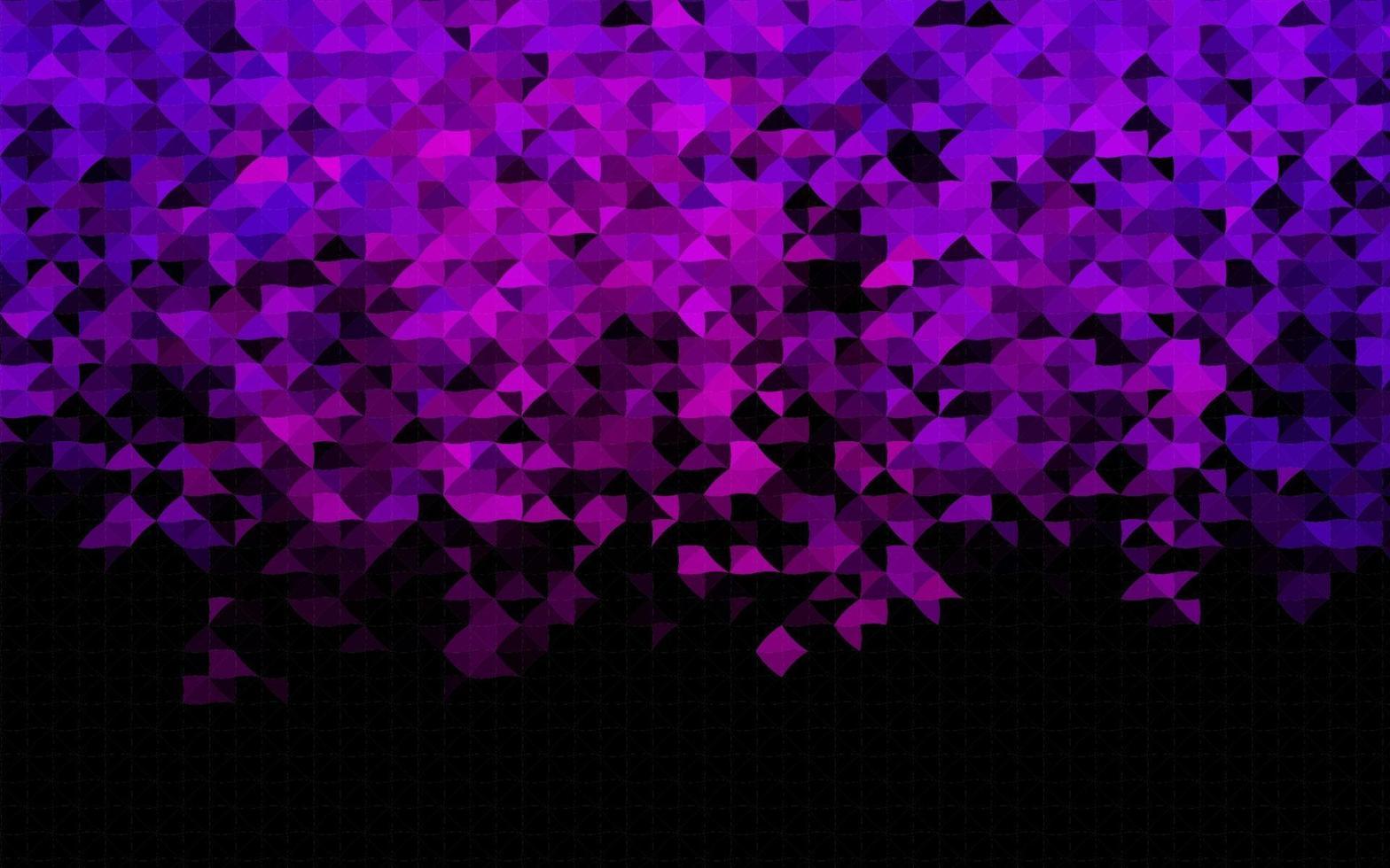 layout de vetor roxo escuro com linhas, triângulos.