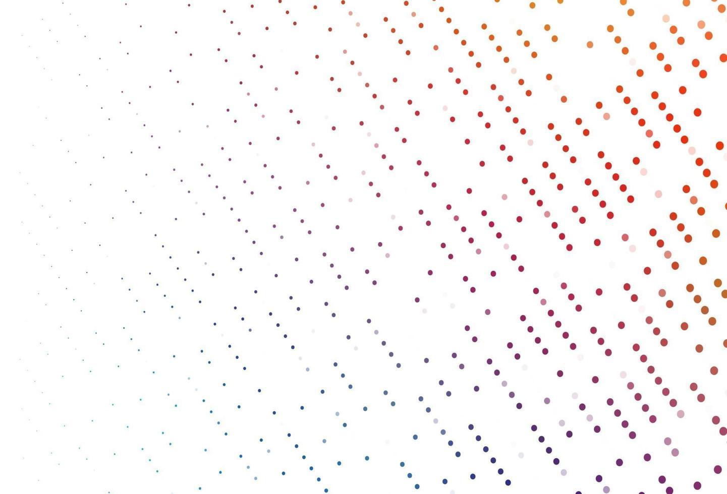 padrão de vetor azul e vermelho claro com esferas.