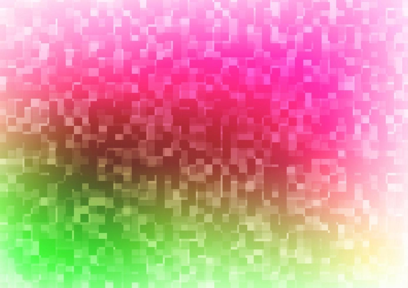 capa de vetor rosa claro verde em estilo poligonal.