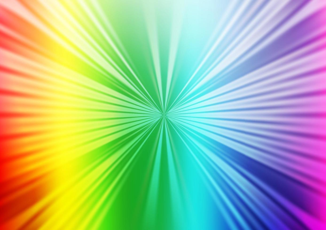 luz multicolor, textura de vetor de arco-íris com linhas coloridas.