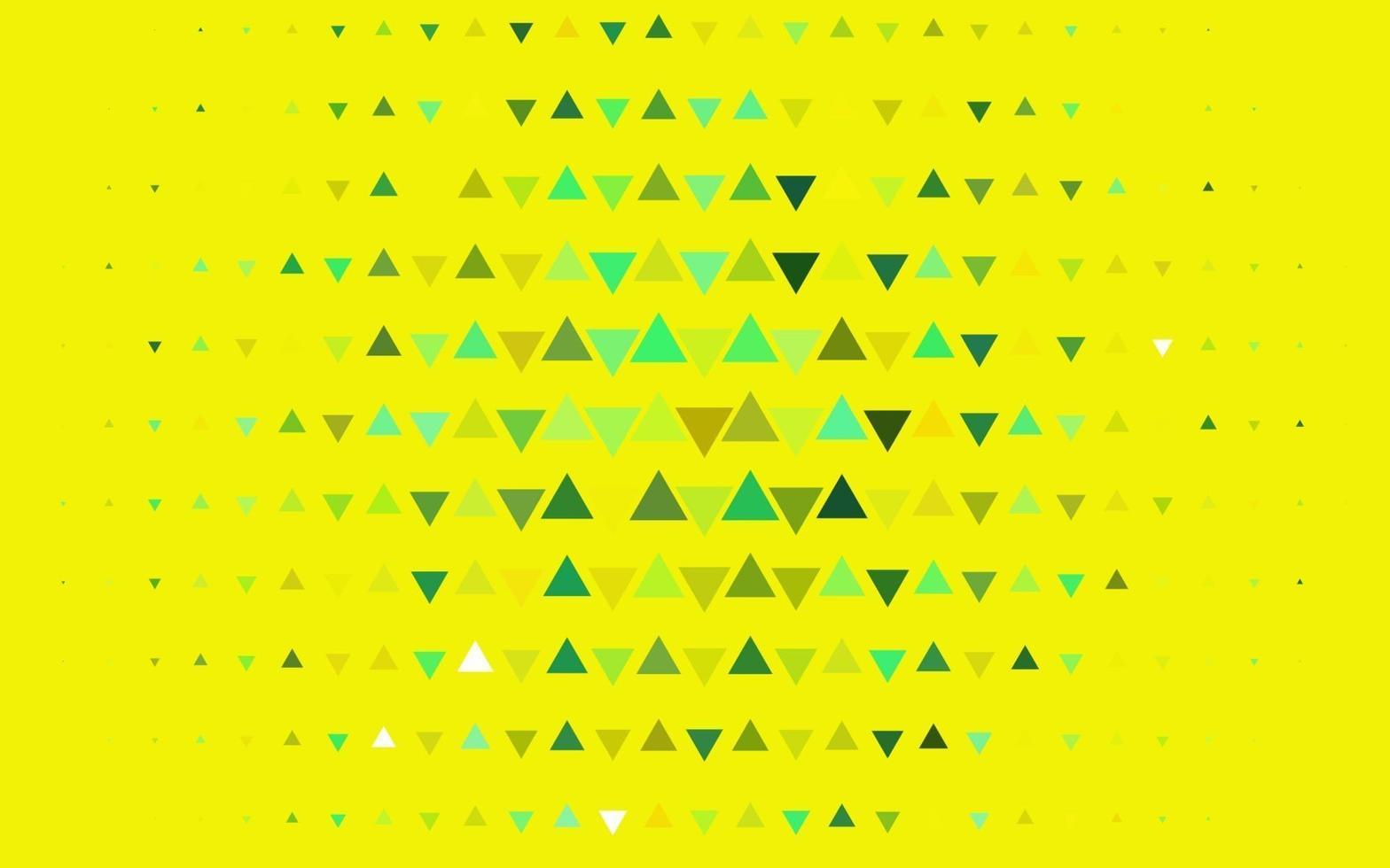 capa de vetor verde e amarelo claro em estilo poligonal.