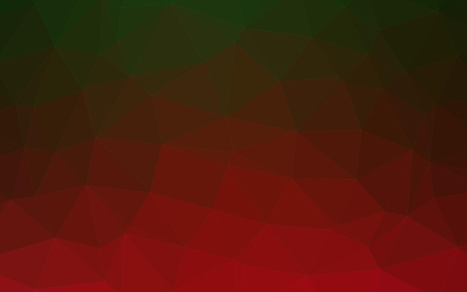 capa de poli baixa de vetor verde claro e vermelho.