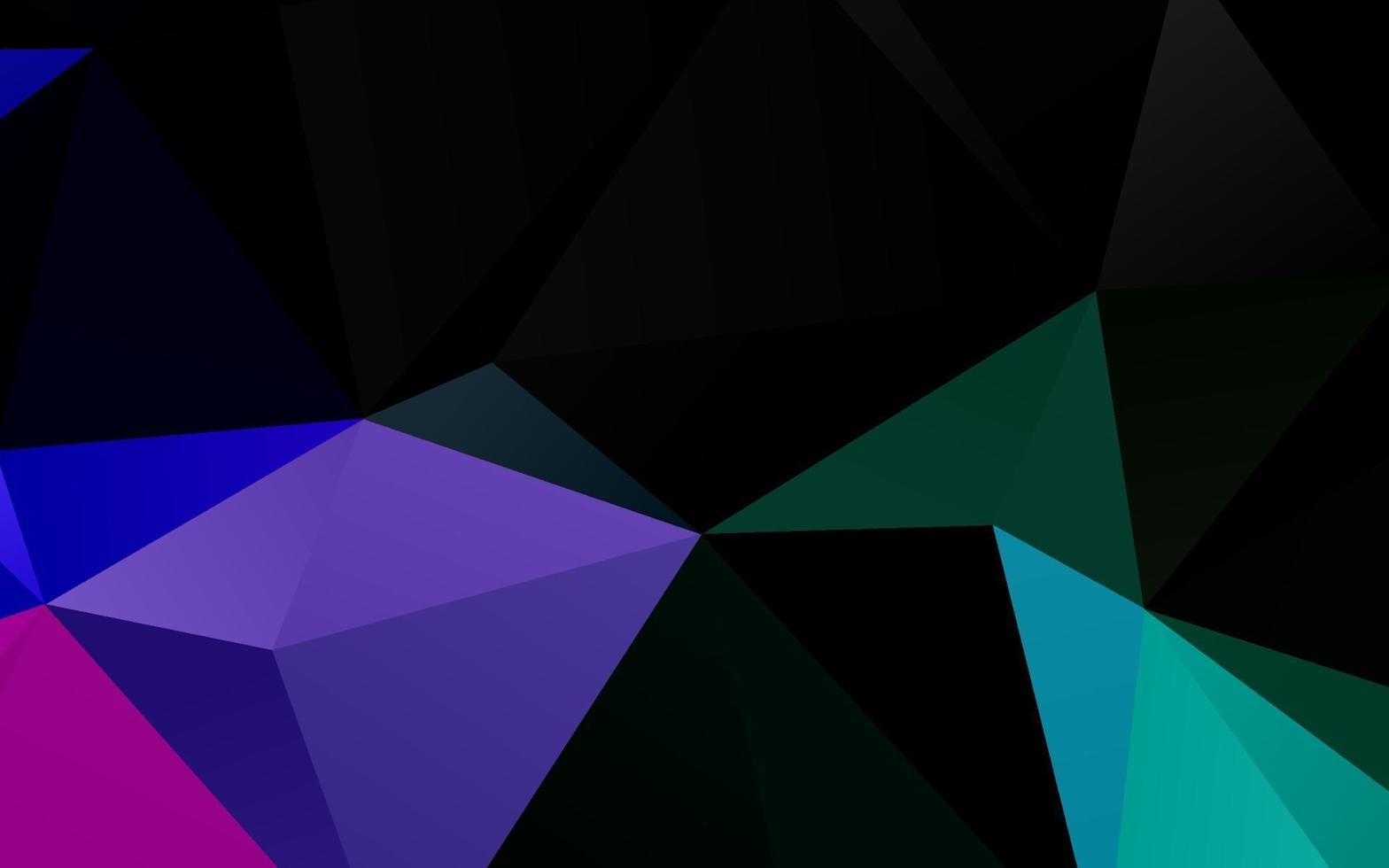 modelo de mosaico de triângulo de vetor de arco-íris multicolorido escuro.