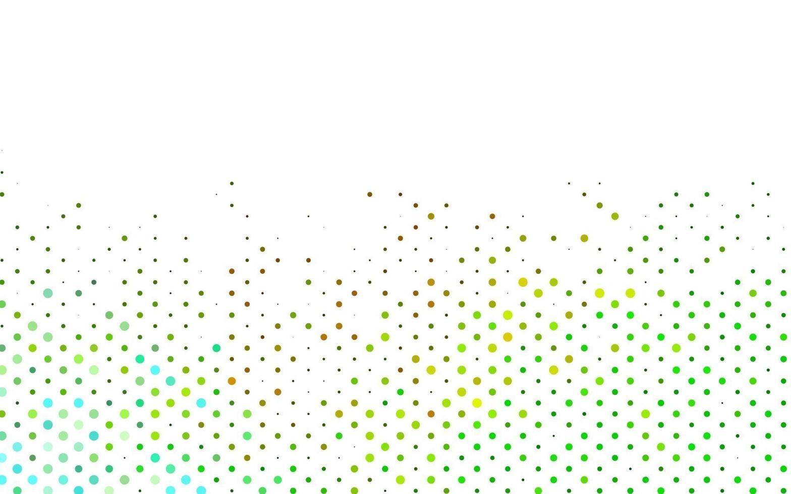 modelo de vetor verde e amarelo claro com círculos.