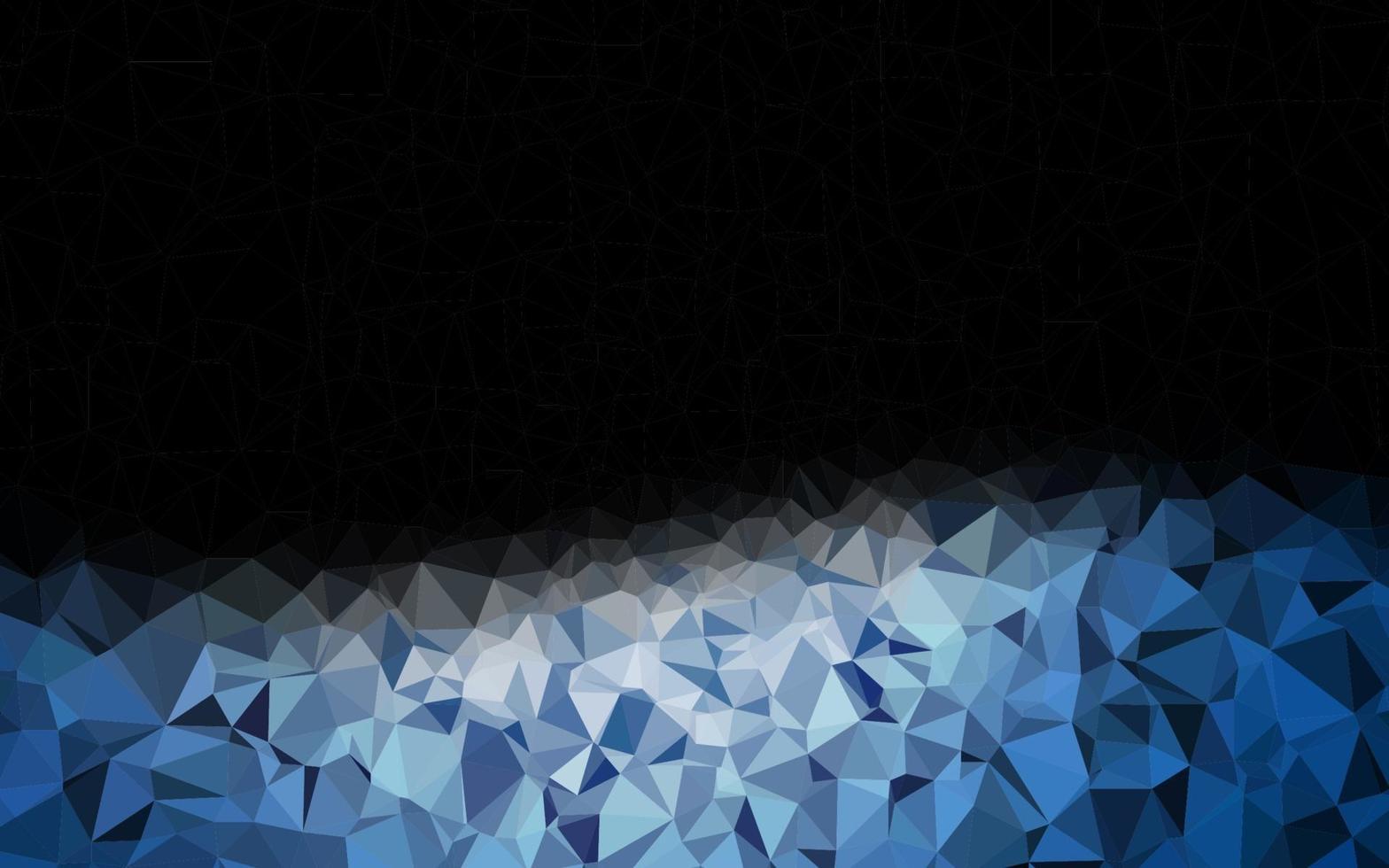 cenário de mosaico abstrato de vetor azul escuro.