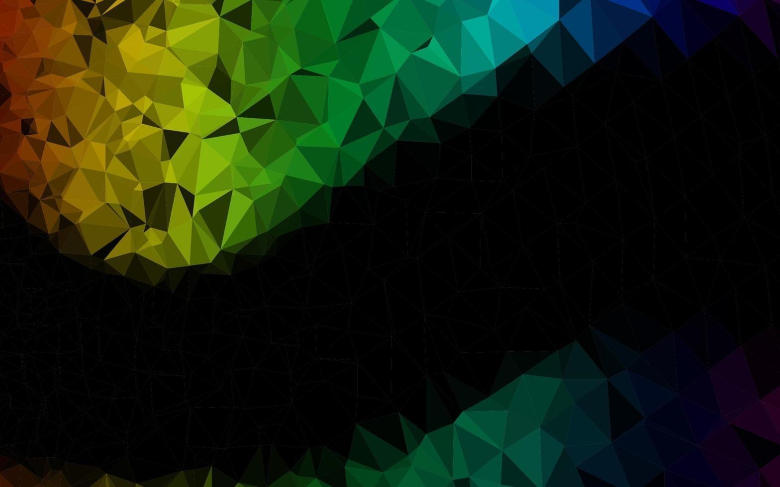 modelo de triângulo embaçado de vetor de arco-íris multicolorido escuro.