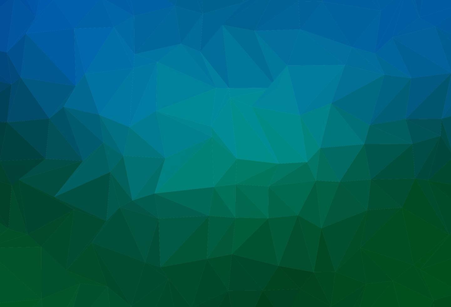 fundo poligonal do vetor azul, verde claro.