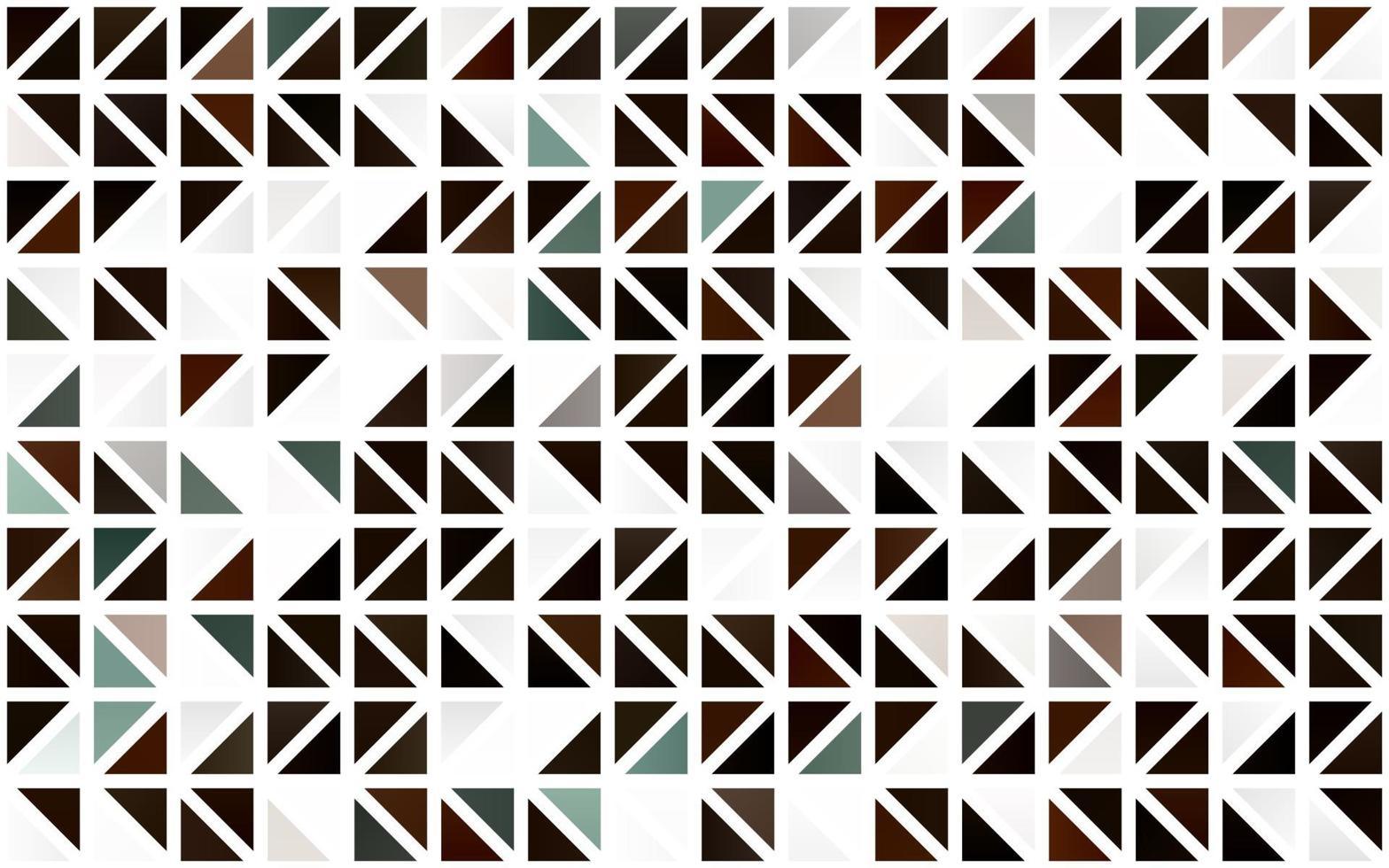 modelo sem emenda de vetor laranja claro com cristais, triângulos.