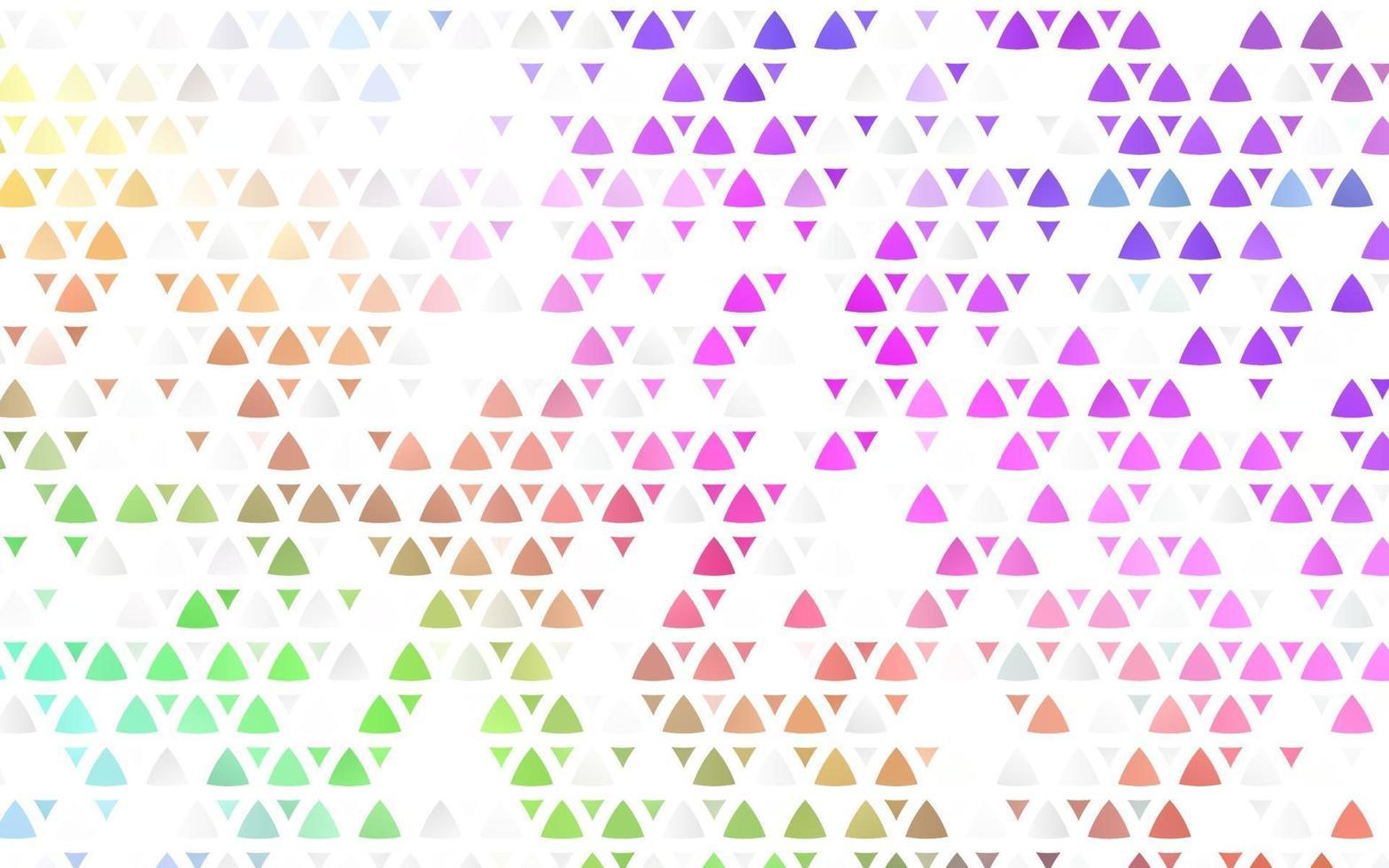 luz multicolor, fundo sem emenda do vetor do arco-íris com triângulos.