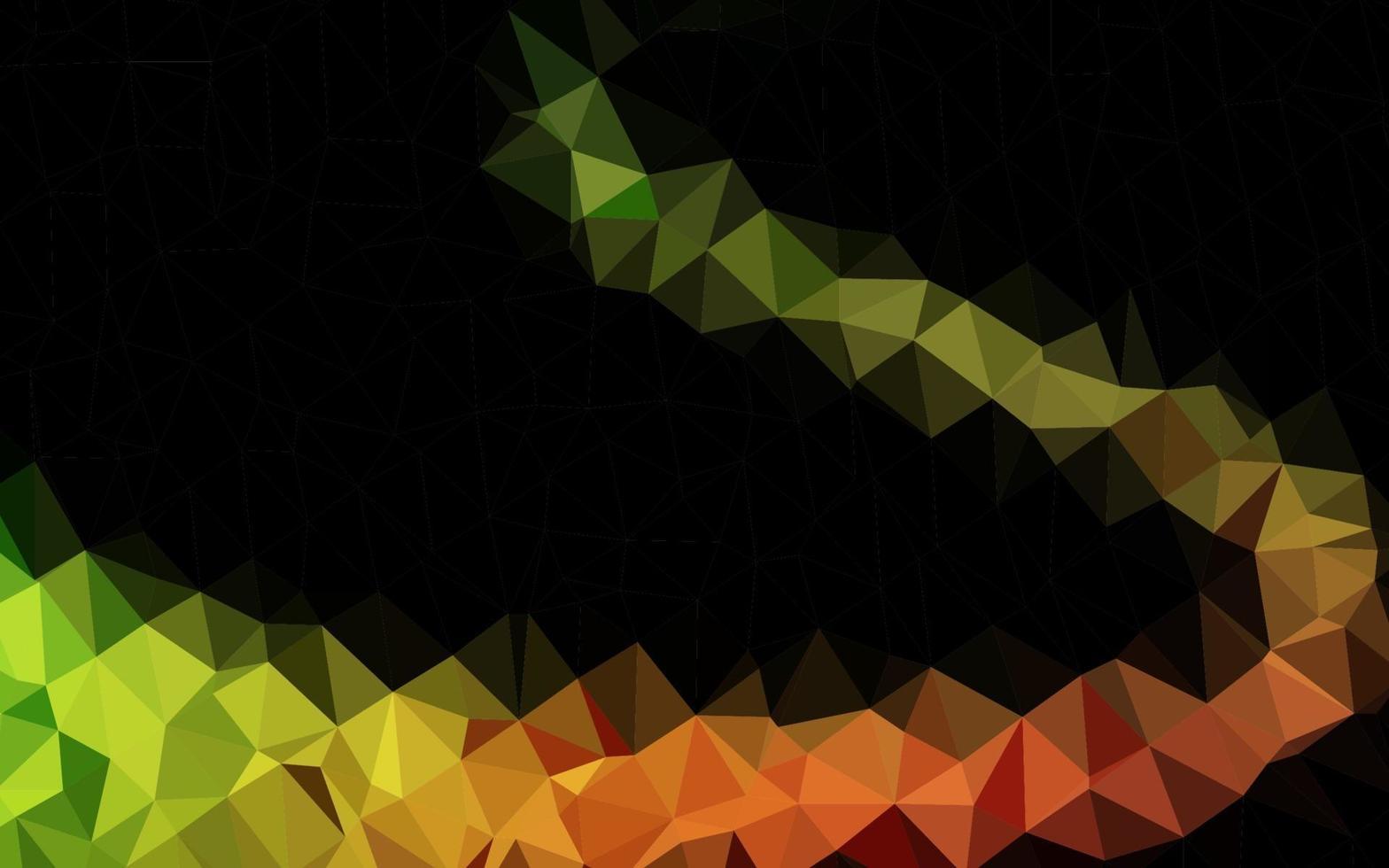 vetor verde escuro e vermelho brilhante modelo triangular.
