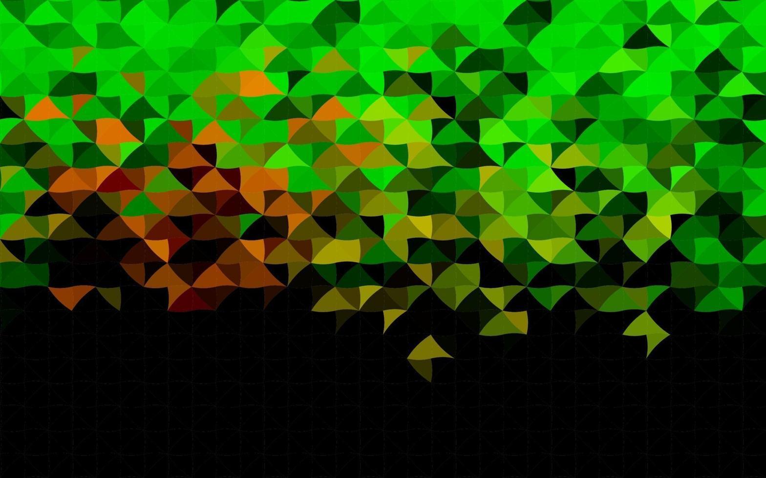 layout de vetor verde escuro e vermelho com linhas, triângulos.