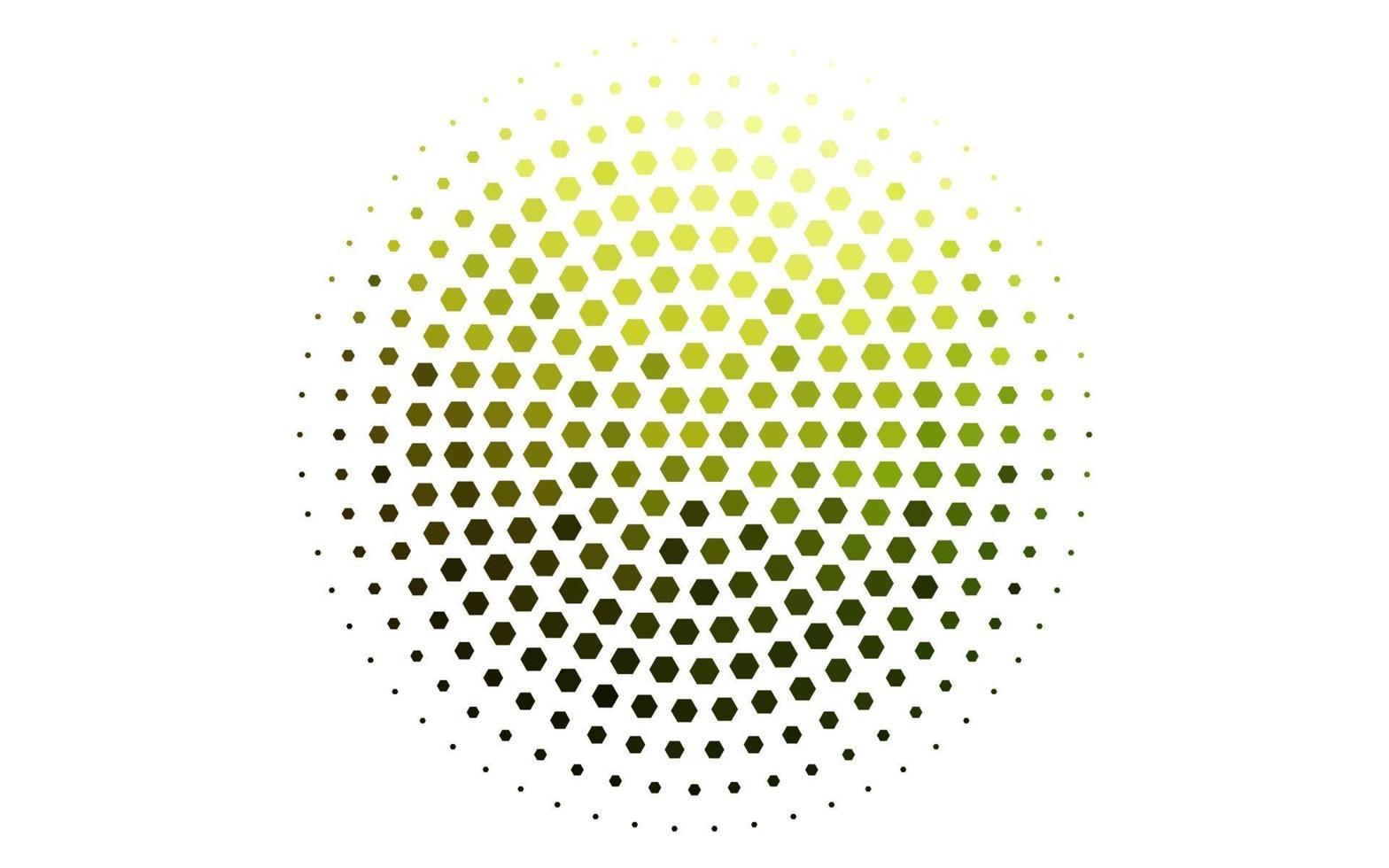 layout de vetor verde e amarelo claro com formas hexagonais.