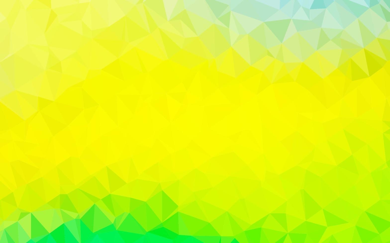 luz verde e amarelo padrão de triângulo embaçado de vetor. vetor