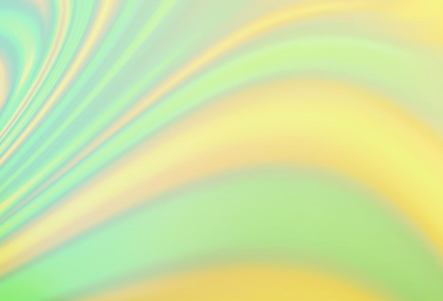 de fundo vector verde e amarelo claro com linhas dobradas.