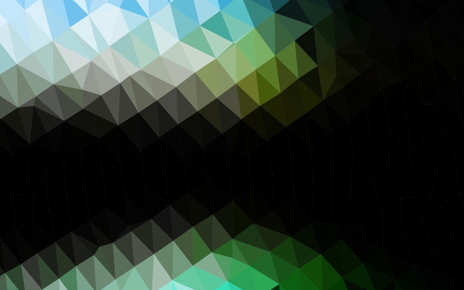 textura de triângulo embaçado vetor verde escuro.