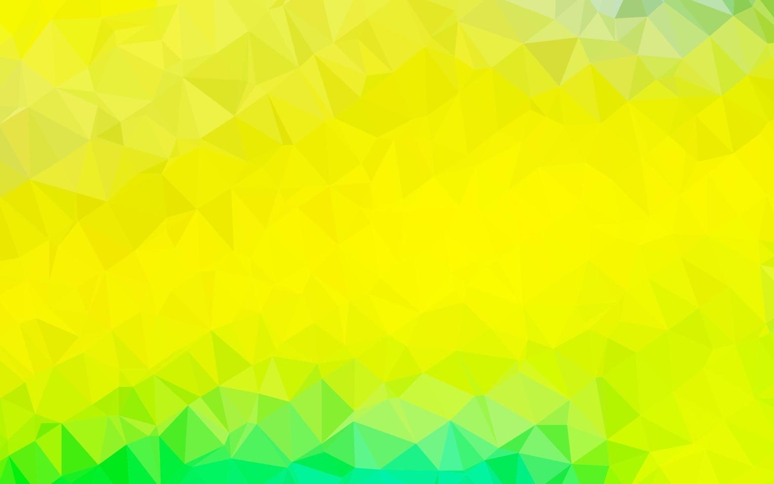 luz verde, vetor amarelo brilhante fundo triangular.