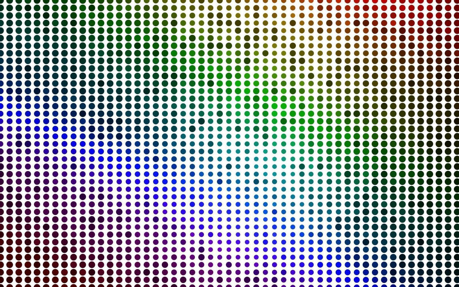 luz multicolor, layout de vetor de arco-íris com formas de círculo.