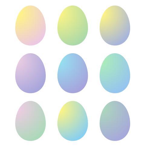 ovos de Páscoa gradiente vetor