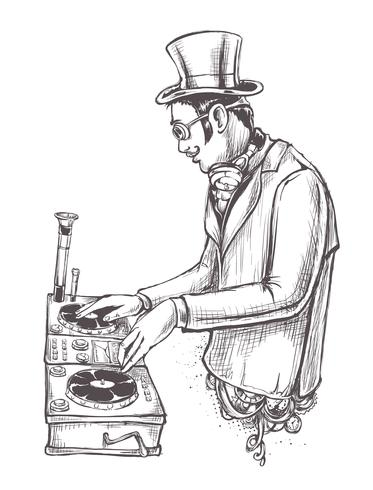 DJ vintage vetor