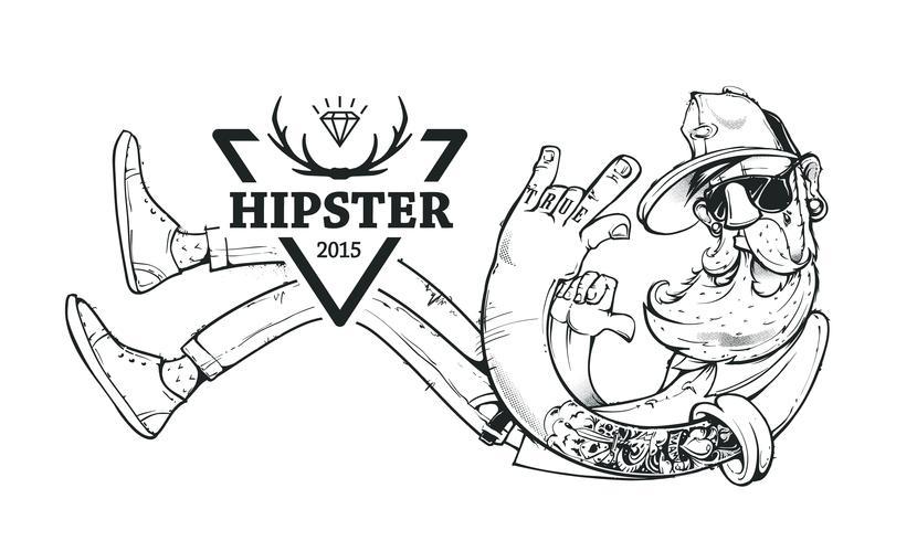 Arte vetorial de hipster vetor
