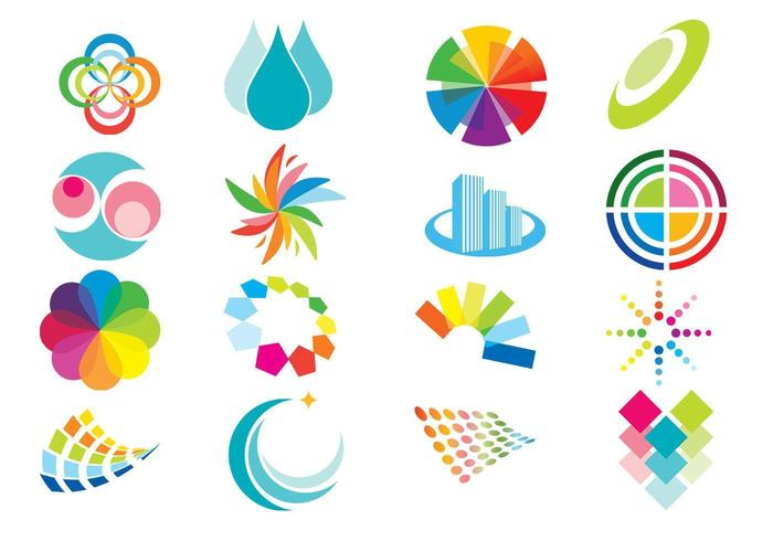 Pacote de vetores de elementos de cor