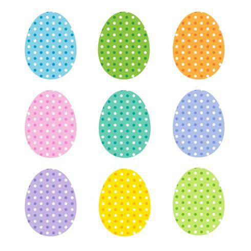 ovos de páscoa com bolinhas vetor