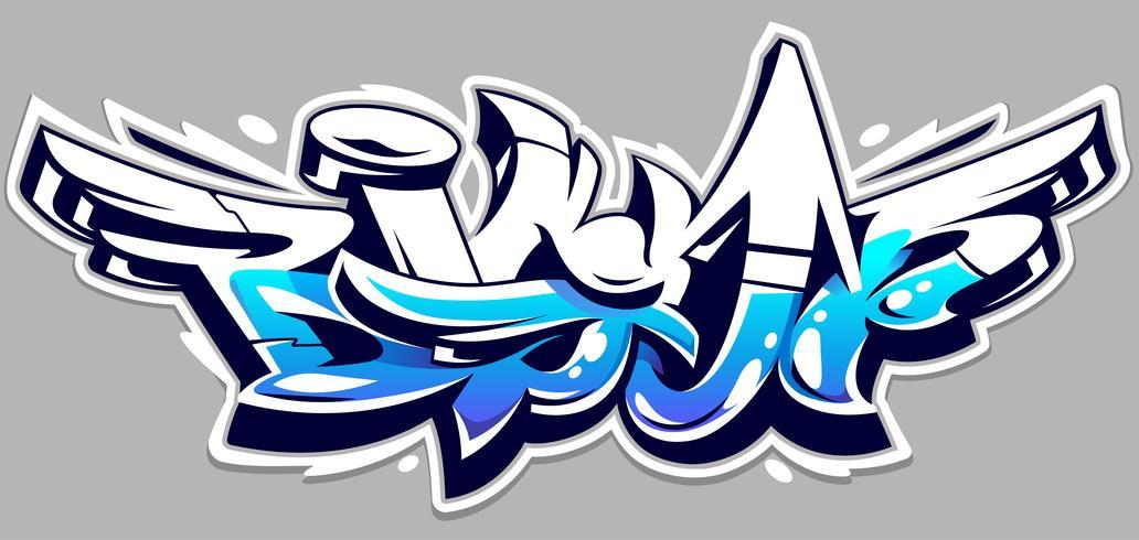 Letras de vetor de graffiti grande