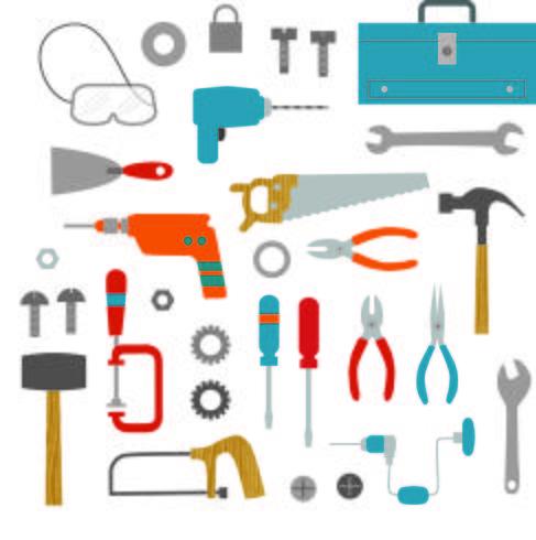 clipart de ferramentas vetor