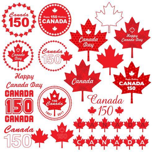 Clipart de dia do Canadá vetor