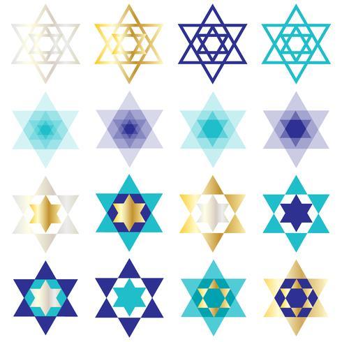 Clipart de estrela de David judaica vetor