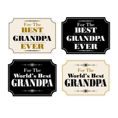 imagens de grandpa Fathers day placard vetor
