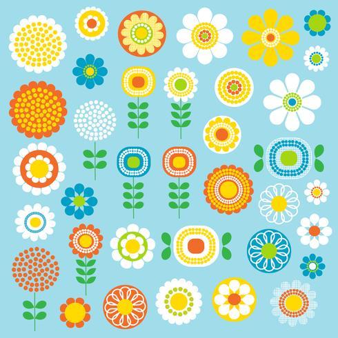 clipart de clipart de flores mod vetor