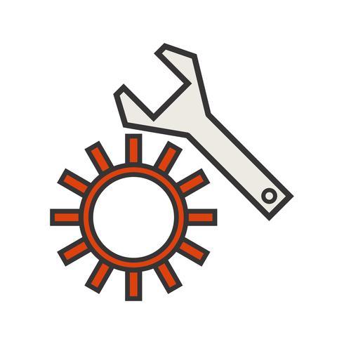 Ícone de preenchimento de linha vetor