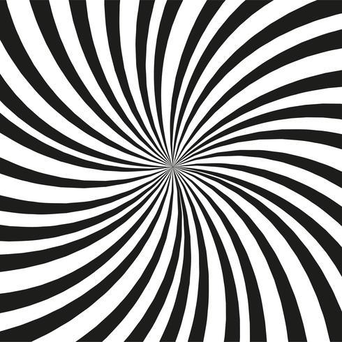 Fundo preto e branco brilhante dos raios. Efeito Twister. vetor