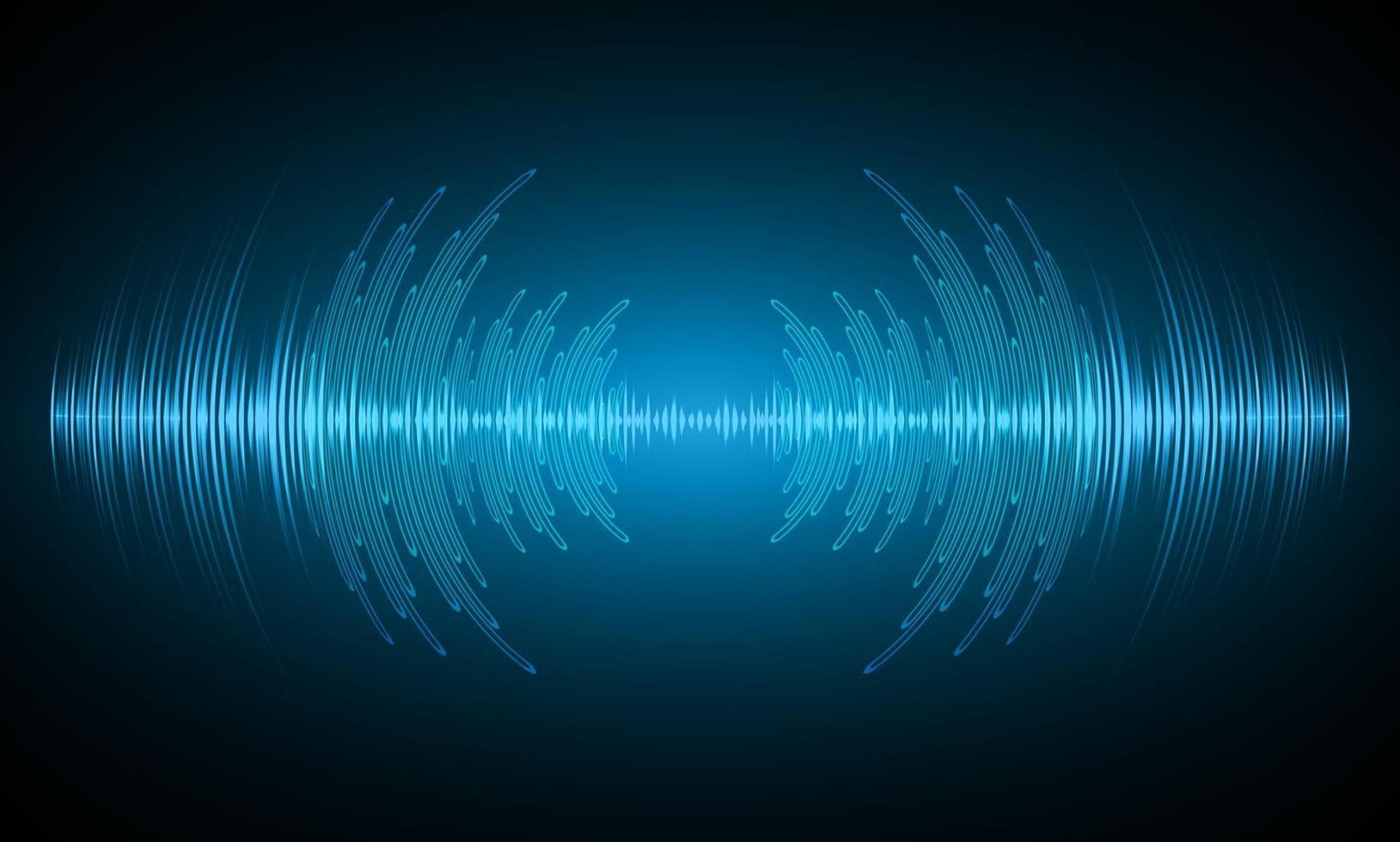 ondas de som oscilando luz escura vetor