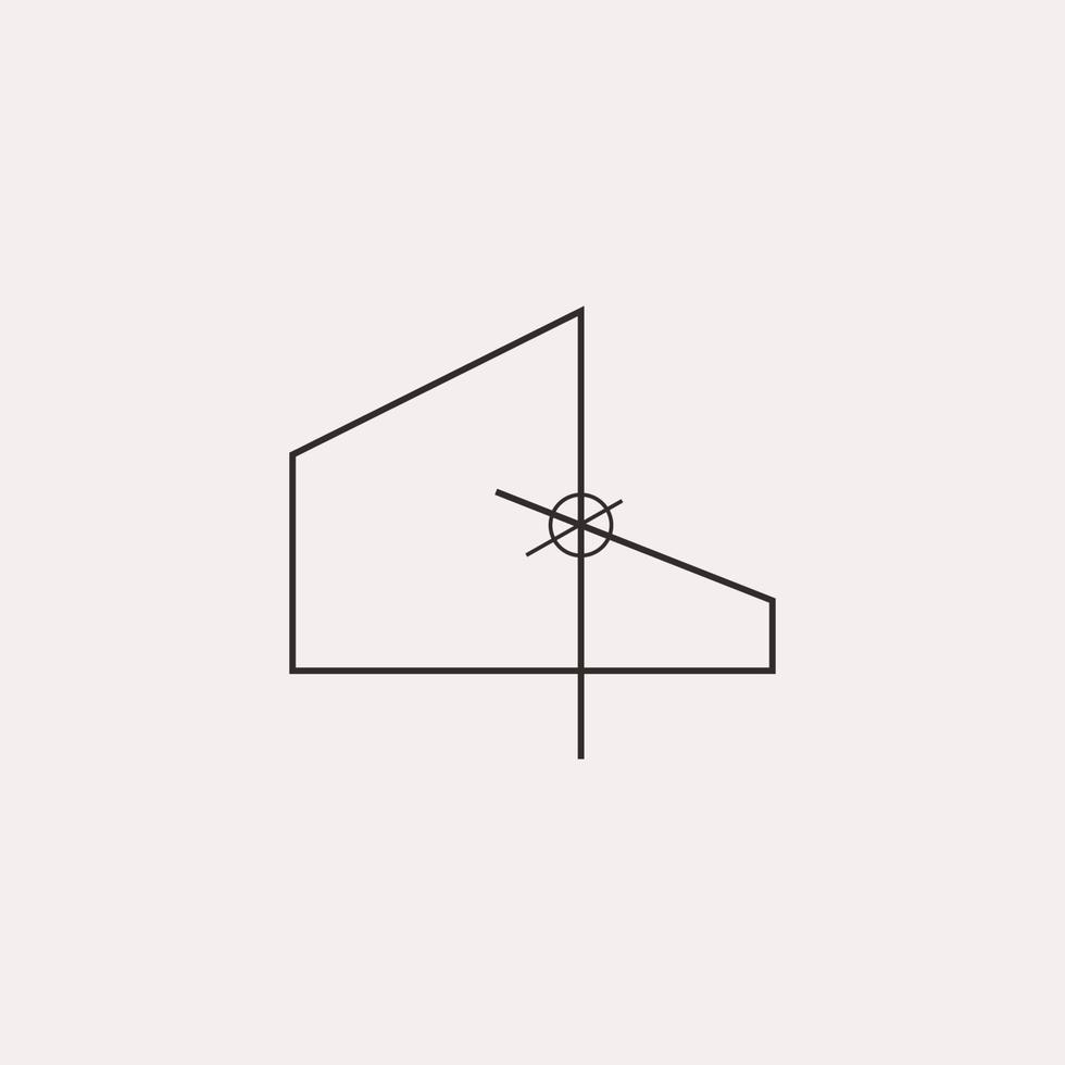 ícone do logotipo de construção civil de arquiteto minimalista vetor
