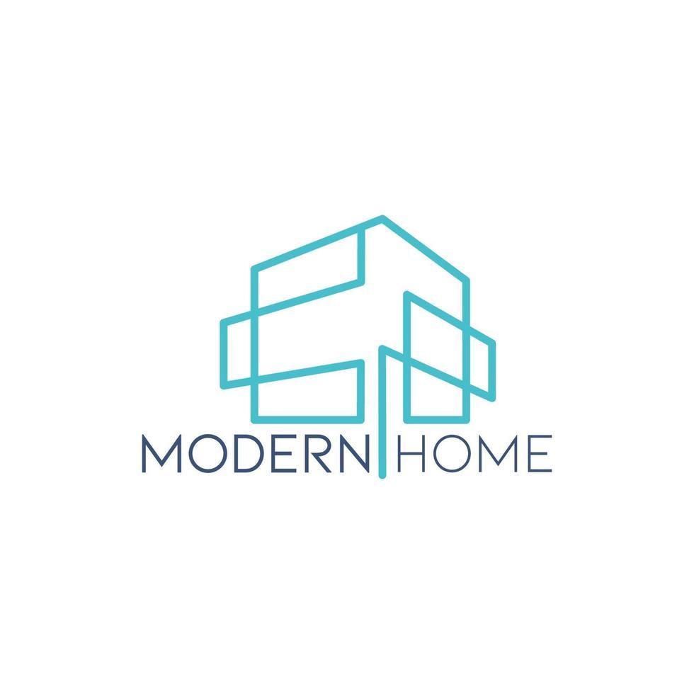 modelo de logotipo de casa moderno estilo minimalista vetor