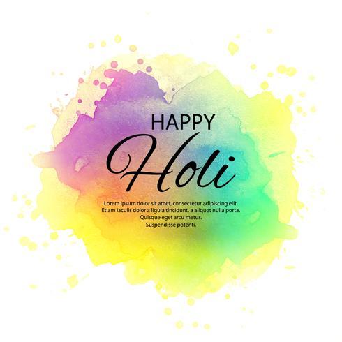 Ilustração, de, coloridos, feliz, holi, celebração, fundo vetor