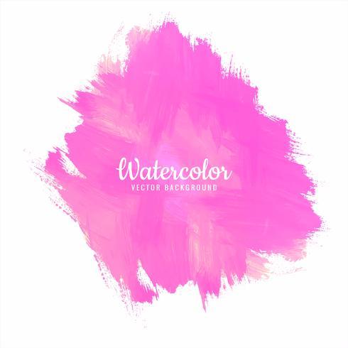 Design de respingo aquarela suave colorido mão desenhada vetor