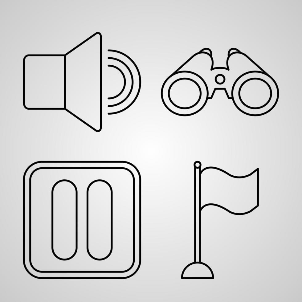 conjunto de ilustração vetorial de elementos básicos isolado no fundo branco vetor