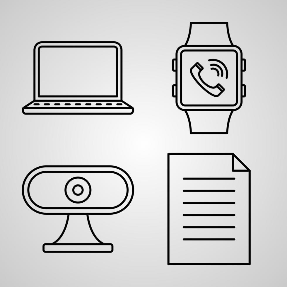 ícone de comunicação definido ilustração vetorial eps vetor