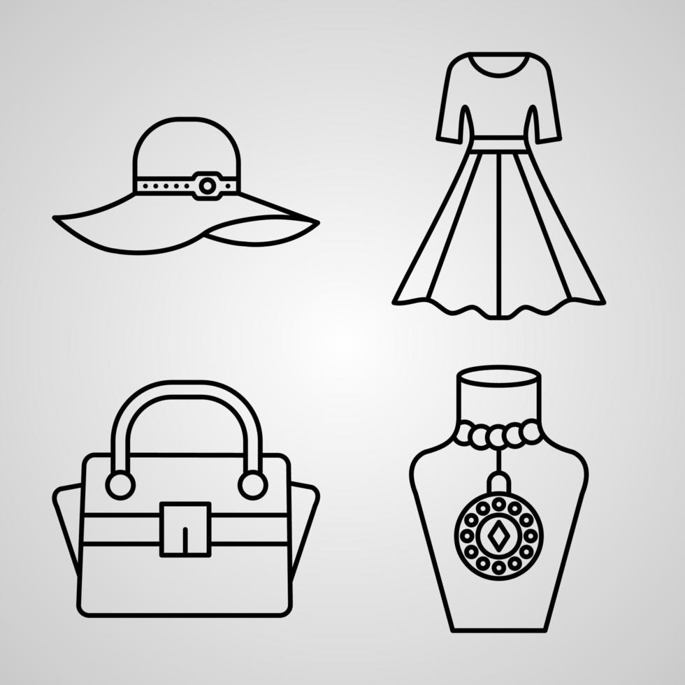conjunto de ícones de beleza e cosméticos vetor