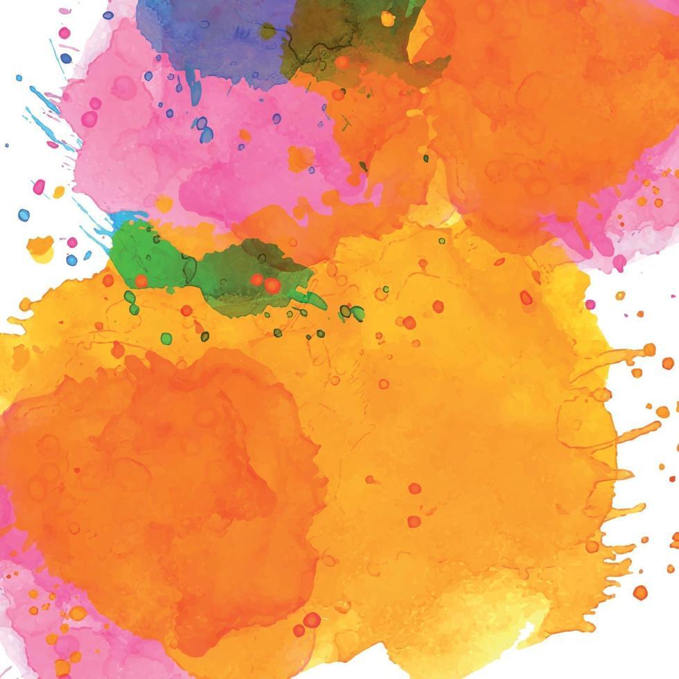 fundo abstrato aquarela pintado multicolorido realista - vetor