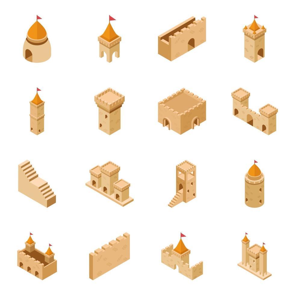 conceitos de castelo medieval vetor